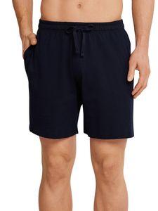 Schiesser Herren kurze Schlafanzughose Loungehose Long Boxer - 163838, Größe Herren:52, Farbe:dunkelblau