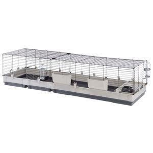Ferplast Kaninchenkäfig Krolik 200 Grau 205x60x50 cm