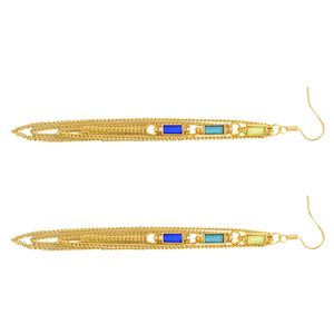 1 Paar Ohrringe Golden 12cm Kette Ohrringe