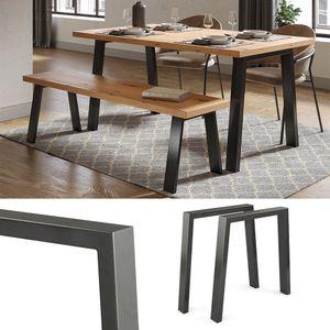 Vicco Loft Tischkufen U-Form 72cm Tischbeine DIY Tischgestell Esstisch Möbelfüße