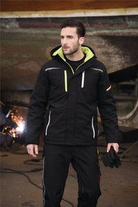 Softshell-Berufsparka Terrax Workwear Gr.XL schwarz/limette 100%.Polyester TERRAX