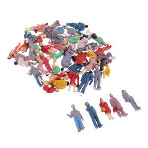 50x Verschieden Stehende Sitzende Figuren Gebäude Passanten Spur H0 1/87 Spielzeug Modellbau