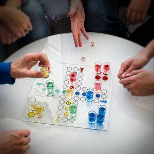 relaxdays XXL Trinkspiel Set Beer Pong Partyspiel Roulette Drinking Ludo Saufspiel ab 18