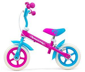 Milly Mally Laufräder 2 Räder loopfiets Dragon 10 Zoll Junior Felgenbremse Rosa/Blau