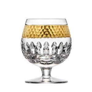 Cognacglas Kristall Bloom 24K Goldrand