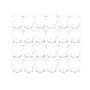 Gläser für Teelichter 24er Set durchsichtige Teelichthalter