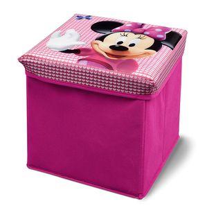 Disney Minnie Maus Spielzeugkiste + Hocker Aufbewahrungsbox mit Deckel Spielzeugkiste Kindermöbel
