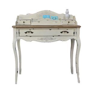 Konsole Sekretär weiß braun antik Landhaus Luxus NEU beige Massiv Holz Tisch