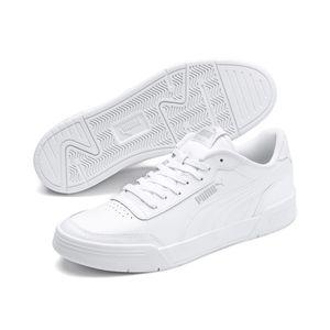 Puma Herren Sneaker Sneaker Low Leder weiss 45