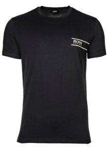 HUGO BOSS Herren T-Shirt -  Rundhals, Pure Baumwolle, Logo Dunkelblau XL