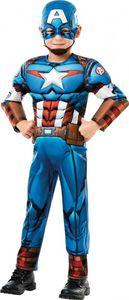 Rubies - Jungen Captain-America-Kostüm - Captain America - L (7-8 Jahre)