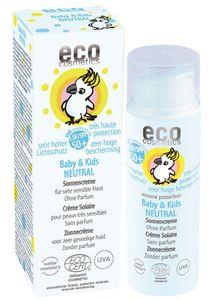 eco cosmetics - Baby Sonnencreme LSF 50+ neutral ohne Parfum - 50 ml