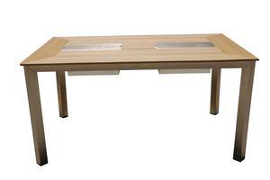 Tisch FLORENCE, mit 2 Eisbehältern
