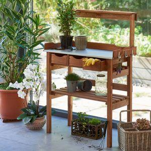 Garten-Arbeitstisch Pflanztisch Gärtnertisch Blumentisch Gartenarbeitstisch