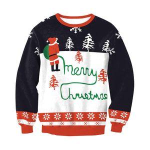 Unisex Weihnachtspullover Weihnachtsstrickjacke Oberteile Weihnachtsüberbrücker Sweatshirt, S