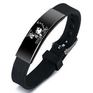 Anime Demon Slayer Cosplay Armbänder, Armreifen Edelstahl Silikon Schmuck Geschenke für Unisex Frauen Männer -H05