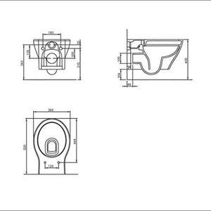Alpenberger Spülrandloses Tiefspül-WC aus hochwertiger Sanitärkeramik   Abnehmbarer WC-Sitz mit SoftClose Absenkautomatik   inkl. Befestigungsset   passend zu GEBERIT