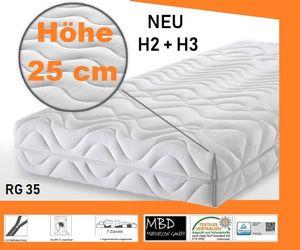 "Höhe 25 cm - Matratze "" RG 35 Kg/m³ - Härtegrad H2/H3 (160 x 200 cm)"