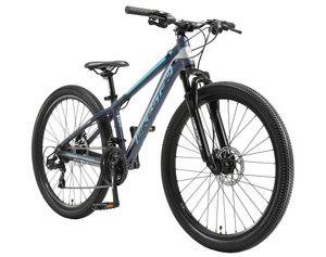 BIKESTAR Alu Mountainbike 26 Zoll | 21 Gang Hardtail Sport MTB 13 Zoll Rahmen Scheibenbremse Federgabel | Blau