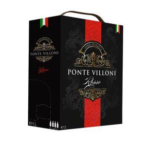 Bag-in-Box - Vin d'Italie - Ponte Villoni Rotwein 3 L., Box mit:1 Box