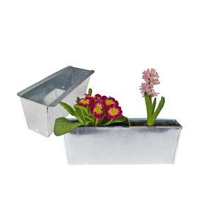 2x Pflanzkasten Palette verzinkt Paletten Blumenkasten Pflanzkübel 35,5 x 12,5 x 12 cm