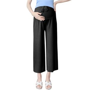 Damen Schwangere Sommerhose Pumphose Haremshose Leichte Haremshose (schwarz,XXL)