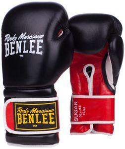BENLEE Rocky Marciano Boxhandschuhe Unisex – Erwachsene Schwarz-Rot, Größe:10 oz