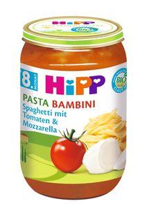 HiPP Menüs ab 8.Monat, Pasta Bambini - Spaghetti mit Tomaten und Mozzarella, DE-ÖKO-037 - VE 220g