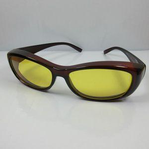 Nachtsichtbrille Nachtfahrbrille Überbrille Sonnenbrille Tag & Nacht braun