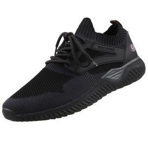 DOCKERS Herren Low Sneaker Schwarz Schuhe, Größe:43