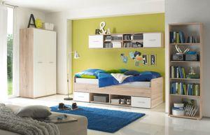 Nanu Jugendzimmer Set Eiche San Remo / Weiß