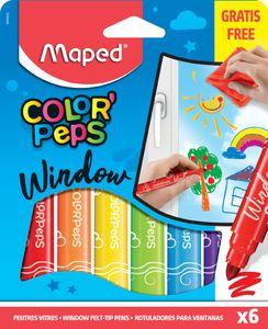 Maped Fenstermarker farbig sortiert 6er Kartonetui
