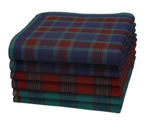 Betz 6 Stück oder 12 Stück Herren Stofftaschentücher in der Geschenkbox 100% Baumwolle 40x40cm Farbe - Dessin 10 - 6 Stück