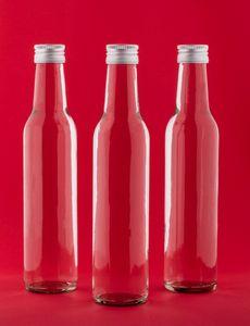 BOR-250 12 Leere Glasflaschen 250 ml BOR kleine Flaschen Saftflaschen Likörflaschen Weinflasche Flaschen mit Schraubverschluss 0,25 Liter l