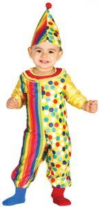 Fiestas Guirca faschingskostüm Clown gelb/rot Größe 90/92 2-teilig