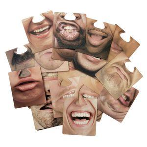 Party Face Mats Gesichtsmasken (40 Gesichter)