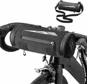ROCKBROS Lenkertasche Fahrrad Rahmentasche Multifunktional ca. 2L Schwarz