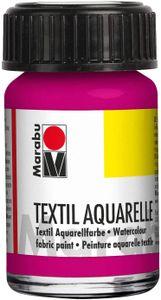 "Marabu Textilfarbe ""Textil Aquarelle"" magenta 15 ml auf Wasserbasis"