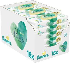 Pampers Coconut Pure Feuchttücher, (18 x 42 Stück) 756 Feuchttücher