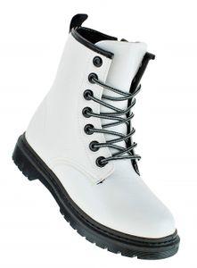 Winterstiefel Stiefel Winterschuhe Damenstiefel Damen 102, Schuhgröße:38, Farbe:Weiß