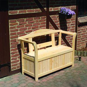 Friesenbank mit Kissenbox Sitztmöbel Stauraum Holz Gartenmöbel 360/25, Zubehör:Ohne Zubehör