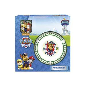 p:os Kindergeschirr-Set Paw Patrol Porzellan Teller, Schale & Becher, bunt, 3-teilig (1 Set)