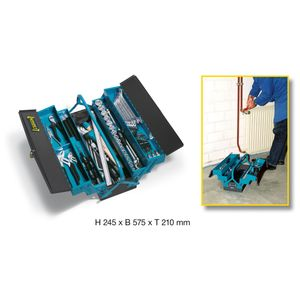 Hazet Metall-Werkzeugkasten mit Sortiment  190/80 - Höhe x Breite x Tiefe: 245 x 575 x