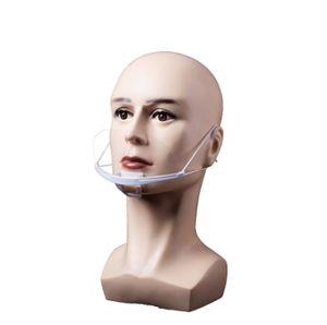 10X Mund Nasen Visier transparent Gesichtsmaske Gesichtsschutz Gesichtsvisier