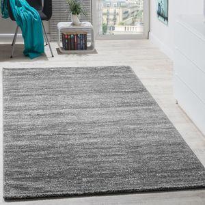 Teppich Kurzflor Modern Gemütlich Preiswert Mit Melierung Grau Anthrazit Creme, Grösse:160x220 cm