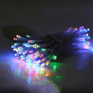 5M 50LED Lichterkette Bunt Batteriebetrieben Party Garten Innen Außen Weihnachten Deko