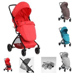Lorelli Kinderwagen SPORT mit Korb, verstellbares Sonnendach, Fußsack, klappbar, Farbe:rot