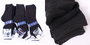 GKA 4 Paar Premium Herren Thermo Socken Gr. 40/43 schwarz Wintersocken innen weich und warm Winter Arbeitssocken Sportsocken
