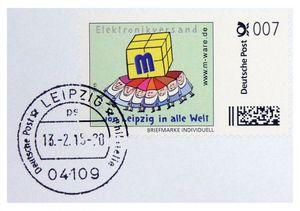 FDC mit 7-Cent-Cartoon-Briefmarke, 13.02.2015, ungel. M-ware® ID15591