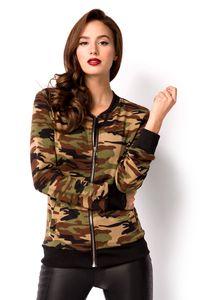 Sommerliche Camouflage Jacke in tranfarben Größe XL = 42